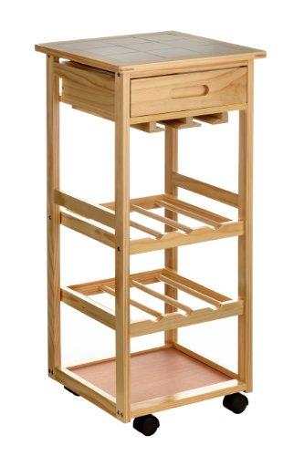 Premier Housewares 2403026 Carrello da Cucina, Legno di Pino, Piano ...
