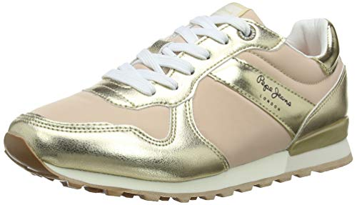 Pepe Jeans London Damen Verona W Greek Sneaker, Gold (099gold 099), 38 EU