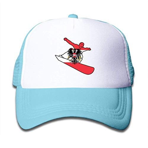 mchmcgm - Mütze Youth Boy and Girls Baseball Hat,Flag of Austria Snowboard Mesh Hat Adjustable Trucker Cap
