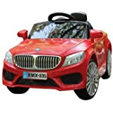 Baybee BMW 5 Series Battery Operated Car With MP3 And USB Player | Parental Remote, Seatbelt ( Red )