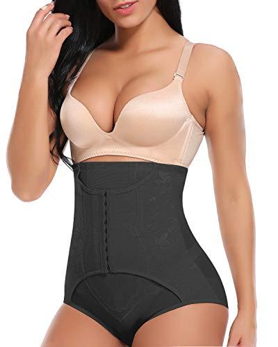 SLIMBELLE Mutande Contenitive Vita Alta Dimagrante per Donna Intimo Modellante Guaina Shapewear Slip-L