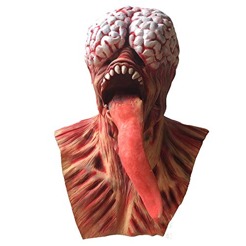Terror Dämonen Maske Resident Evil Monster Maske Alien Old Head Set Ghost Tong Zombie Gehirn Horror Kostüm Party Latex Maske