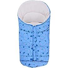 BESBOMIG Saco de Dormir Unisex para Cochecito de Bebé Universal - Forro Polar Impermeable Saco de