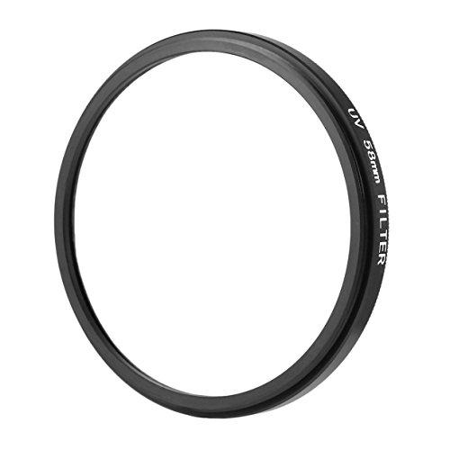 Black & Transparent 58mm UV Ultra-Violet Haze DSLR Fotocamera in Metallo lente filtro lente protettore per Tutti 58mm LENTI da DSLR/SLR/DC/DV