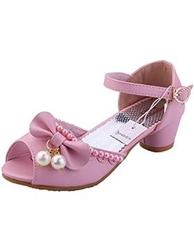 Tyidalin Sandalias de Vestido Disfraz de Princesa Zapatilla de Ballet para niñas 3 a 12 Años (EU 24-35)