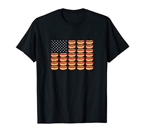 Hot Dog American Flag Patriotic T-Shirt American Relish