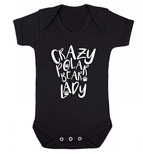 Flox Creative Baby Weste Crazy Polar Bear Lady Gr. 0-3 Monate, Schwarz -