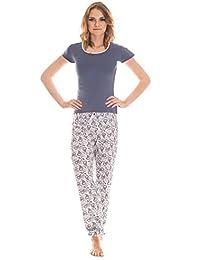 Moonline bequemer Schlafanzug aus Baumwolle Öko-Tex, in verspieltem Design