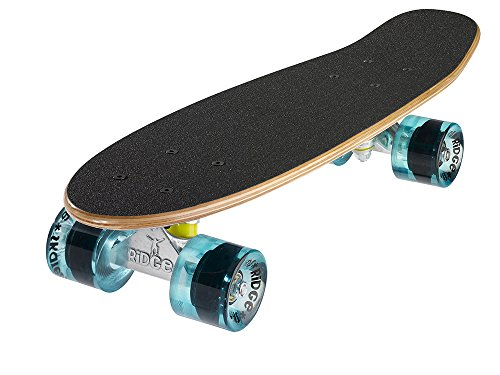 Ridge Retro Skateboard Mini Cruiser, klar blau, 22 Zoll, WPB-22 -