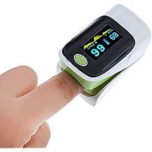 Dedo oxímetro de pulso, Digital pantalla OLED Monitor SpO2para adulto niño niños paciente en hospital Home Healthcare oxígeno Bar centro médico de la Comunidad Alpine zona salud deportes con apagado automático Funciones Avanzadas, verde