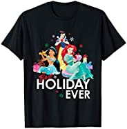 Disney Princess Ariel Snow White Jasmine Best Holiday Ever T-Shirt