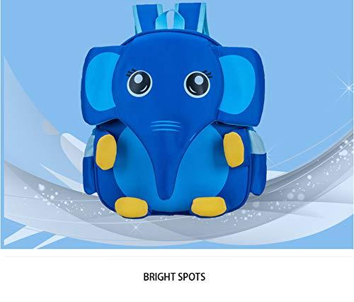 QzlSup Mochila para niños, Mochilas Escolares para niños Mochila para jardín de Infancia 4-12 años (Elefante) Mochila para niños Dibujos Animados de Animales Mochila Escolar para,B