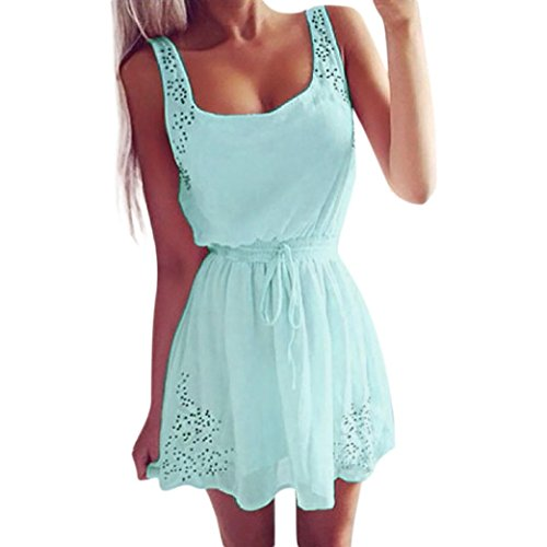 Damen Sommerkleider Frauen Spitzenkleid Dress Langarm Swing Kleider A Line  Vintage Skaterkleid Partykleid Cocktailkleid Lace Backlos Abend Party Mini  Kleid ... 88fda26b8c