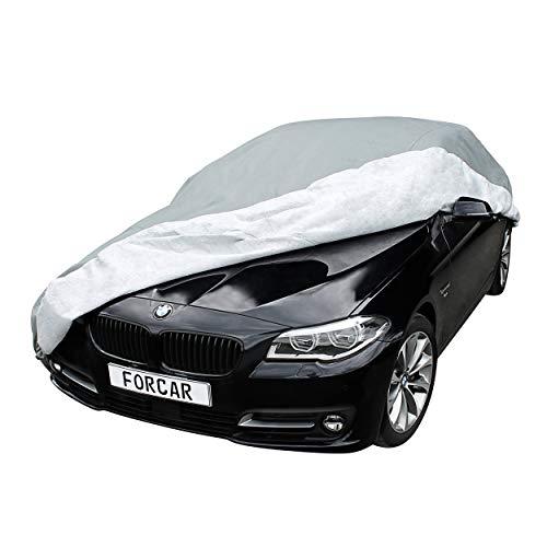FORCAR® Premium Autoplane aus hochwertigem und wasserdichtem Material - Vollgarage mit Innenfutter aus Baumwolle - Atmungsaktiv und einfache Befestigung - Autoabdeckung Autoabdeckplane - Version 2019