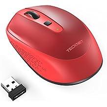 Wireless Mouse, TeckNet Omni Mini Mouse Senza Fili, 2000 DPI 3 livelli di DPI regolabile, 18 mesi la durata della batteria, 2.4G