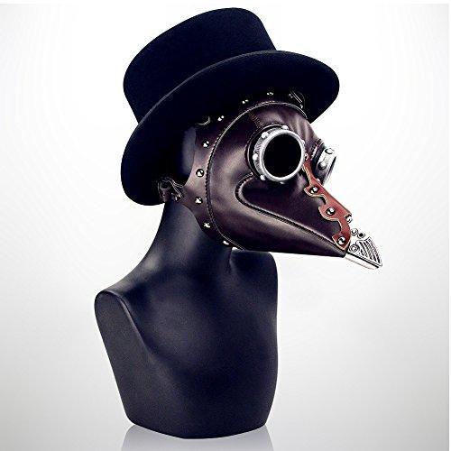 CX Best Steampunk Plague Beak Mask Halloween Kostüm Party Requisiten Rollenspiel Maske Medieval Plague Doctor Kostüm mit Kapuze Robe - Für Erwachsenen Ärzte Mantel Kostüm