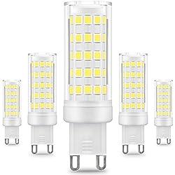 KINDEEP G9 Bombilla LED - 8W / 650LM, 75W Bombilla Halógena Equivalente 360 Grados ángulo de Haz Omni Directional (Blanco Frío)