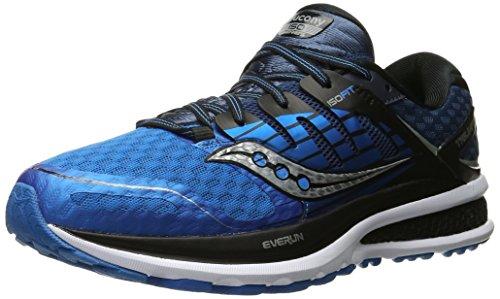 Saucony - Triumph Iso 2, Scarpe da Trail Running Uomo, Blu (Blau/Schwarz/Silber), 42.5 EU