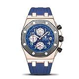 Reloj de Cuarzo Impermeable para Hombre. Reloj de Moda Pulsera de Goma Luminosa, Calendario Marca de Lujo El Ocio Reloj de Negocios,001