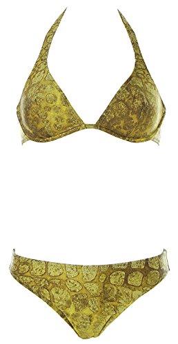 Marisetienne Damen Neckholder Bügel Bikini Grün