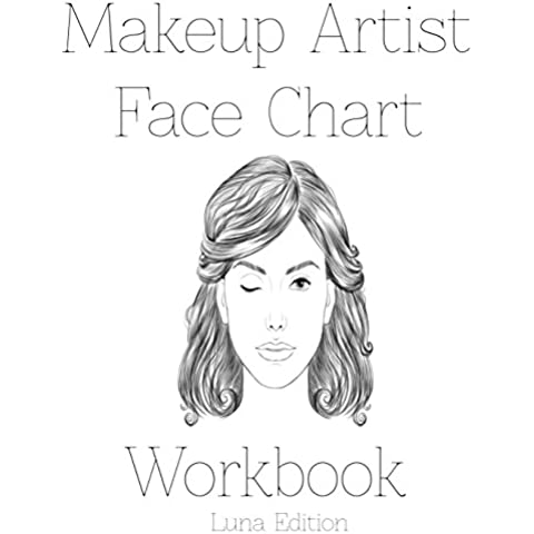 Makeup Artist Face Chart Workbook: Luna Edition