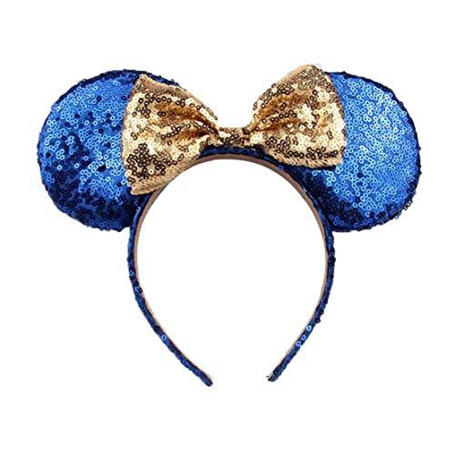 Mickey Mouse Sequin Ohren Stirnband Minnie Glitter Haarspange Geburtstag Versorgung Mädchen Kinder Erwachsene - Maus-markt Minnie