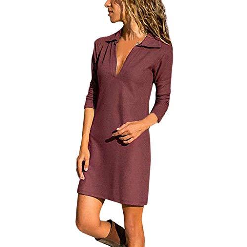 Beonzale Damen O-Neck Stitching Rüschen Stitching Laterne Ärmel Mini Loose böhmischen Print Fledermaus Baggy Plus Size Frauen Maxi-Kleid -