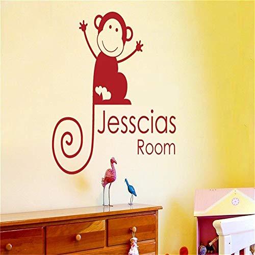 r Geschenk-Affe, der Ballon-personalisierten individuellen Namen-Inneneinrichtungen für Wohnzimmer-Schlafzimmer hält ()