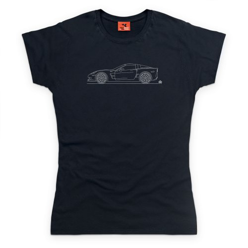 PistonHeads ZR1 The Blue Devil Sports Car T-Shirt, Damen Schwarz