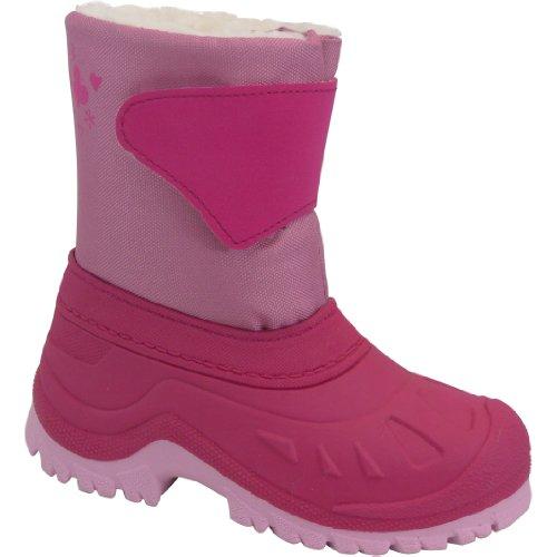 Junior polaire pour bottes de neige-Fuchsia -