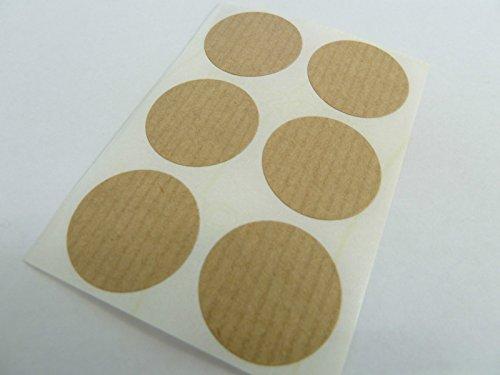 25mm (2.5cm) Redondo Código De Color Adhesivos - Paquetes de 30 Teñido Circular Etiquetas Adheribles - 36 Colores Disponibles - Café Claro Kraft