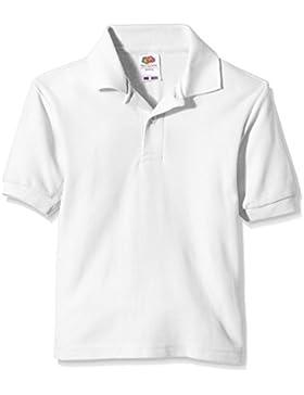 Fruit of the Loom niños polo de piqué Polo Plain manga corta camiseta Blanco blanco 5 años