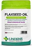 Lindens Olio di semi di lino 1000mg PILLOLE confezione da 90 UK produttore