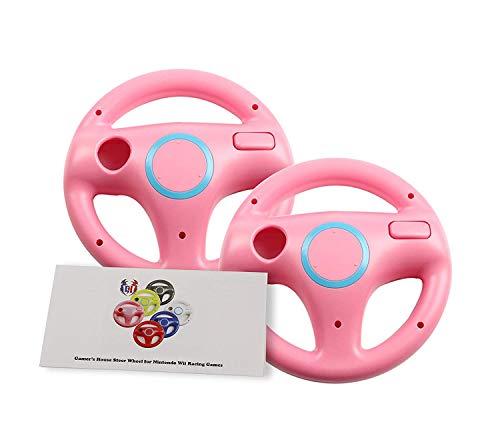 Wii U Wii Lenkrad Original Weiß für Rennspiele Mario Kart Racing Wheels rosa 2 Pack Peach Pink