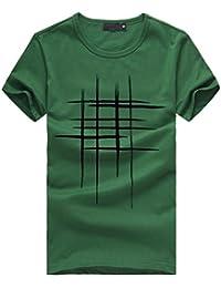 LuckyGirls Camisetas Hombre Originales Algodón Verano Manga Corta Rayas  Polos Casual Camisas 1d1d98cbc7e09