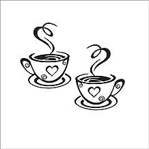 LUFA Café Tazas Cafe Té Etiquetas de la pared Arte Vinilo Decal Cocina Restaurante Pub Decoración