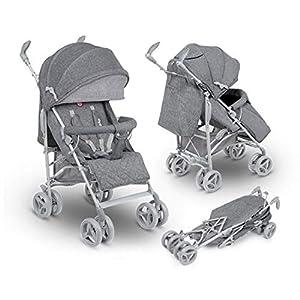 Lionelo Irma Folding Stroller with Backrest Adjustment 6 Inch Wheels (Gray)   11