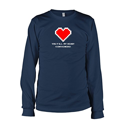 TEXLAB - You fill my Heart (Containers) - Langarm T-Shirt Dunkelblau