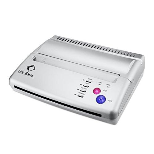 LifeBasis Thermal Stencil Tattoo Transfer Papiertransfermaschine , mit 600 Digital Mustern als Geschenk , Thermo Drucker Printer Kopierer Thermodrucker für Temporäre Tattoos Tätowierung , Silber (Neueste Version)