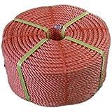 Polypropylene rope 6 mm, 220m, 3-schaftig rotated PP rope, orange