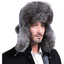 a6041e93c732e nihiug Sombrero Ruso para Los Hombres Cazador Sombrero Máscara A Prueba De  Viento Esquí De Invierno