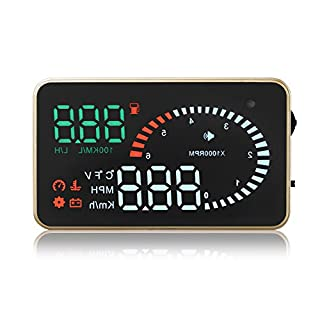 alisable X6 7,6 cm Auto HUD Head Up Display OBD2 II Speed Alarm System Kraftstoffverbrauch Temperatur Spannung KM/Miles ¡æ/¨ H PLUG und Play