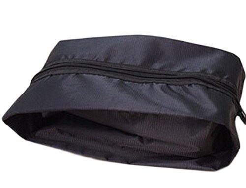 Lumanuby 1 Stück Schuhtaschen Reisezubehör Nylon Schuhbeutel Wasserdichte Tasche für Schuh 37*20cm, Schwarz (20 Schuh Tasche)