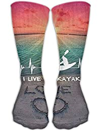 Desing shop I Live To Kayak Heartbeat Best High Performance Athletic  Running Casual Socks For Men 9dc8cdc9840