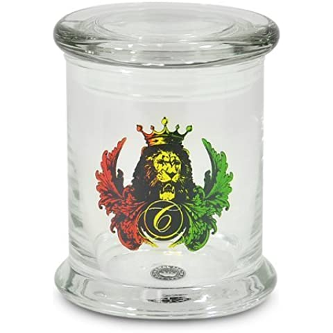Cali Jars Venti 3/4oz Air Tight Sealed Glass Herb Container Lion of Judah by Cali Jars