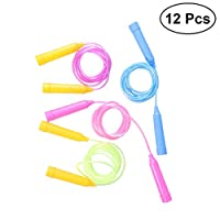 VORCOOL 12PCS Jump Rope Skipping Rope Exercise Equipment Sports Speed Jump Skip Rope for Kids Children Toddler (Random Color)
