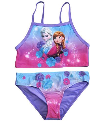 Frozen Bikini Die Eiskönigin Anna ELSA Disney (Flieder, 104) (Mädchen Frozen Bikini)