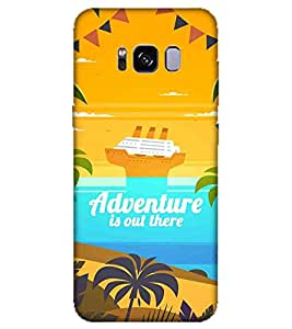 For Samsung Galaxy S8 Edge cruise Printed Cell Phone Cases, boat Mobile Phone Cases ( Cell Phone Accessories ), ocean Designer Art Pouch Pouches Covers, ship Customized Cases & Covers, beach Smart Phone Covers , Phone Back Case Covers By Cover Dunia