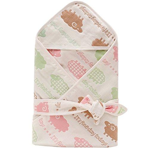 WYT Kuschlige Babydecke Pucktücher Mit Kapuze Baumwolle Weich und Gemütlich Einschlagdecke 80cmx80cm