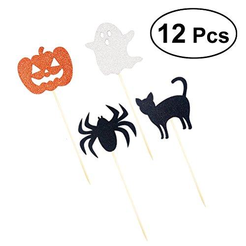 Halloween kinder geburtstag Party Cupcake Topper Kuchen Dekoration Picks für Party Supplies (Cupcakes Halloween Kürbis Kind)